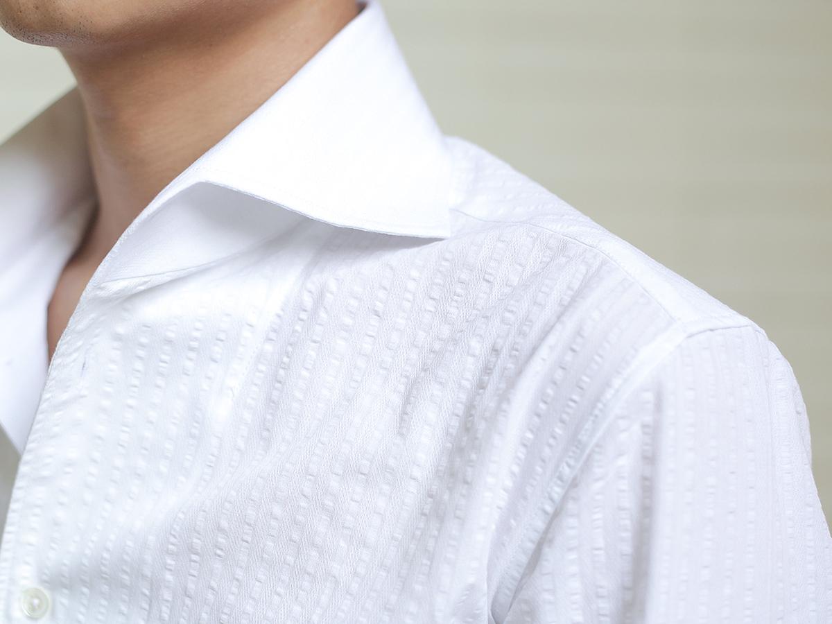 nho2男装定制-shirt & 泡泡纱一片领,一字领衬衫 一字领也是一片领