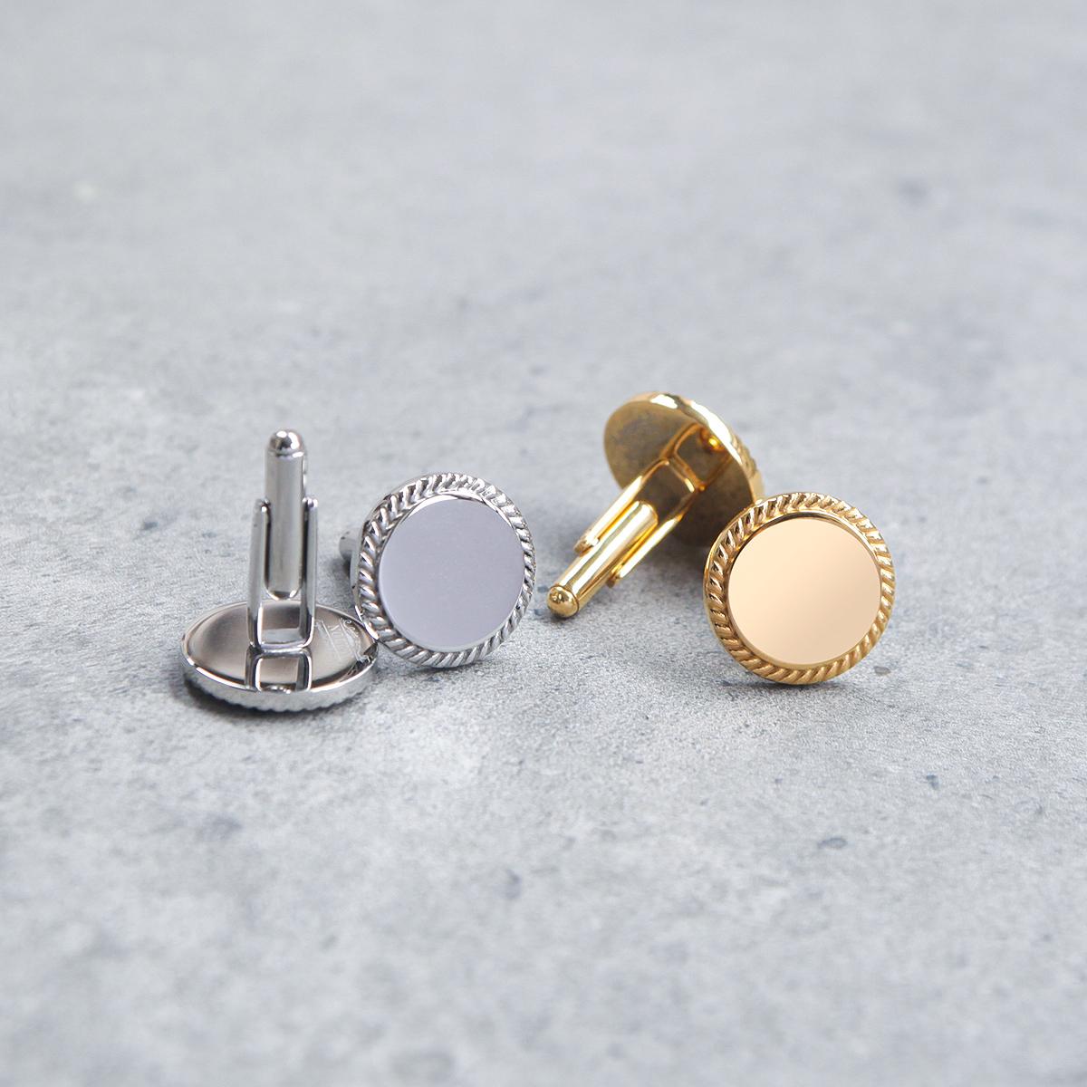 NHO2定制- Cufflinks & 不锈钢镜面袖扣