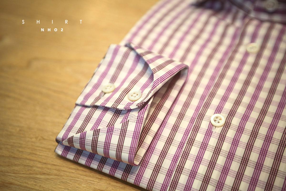 NHO2定制康科尼利格纹衬衫