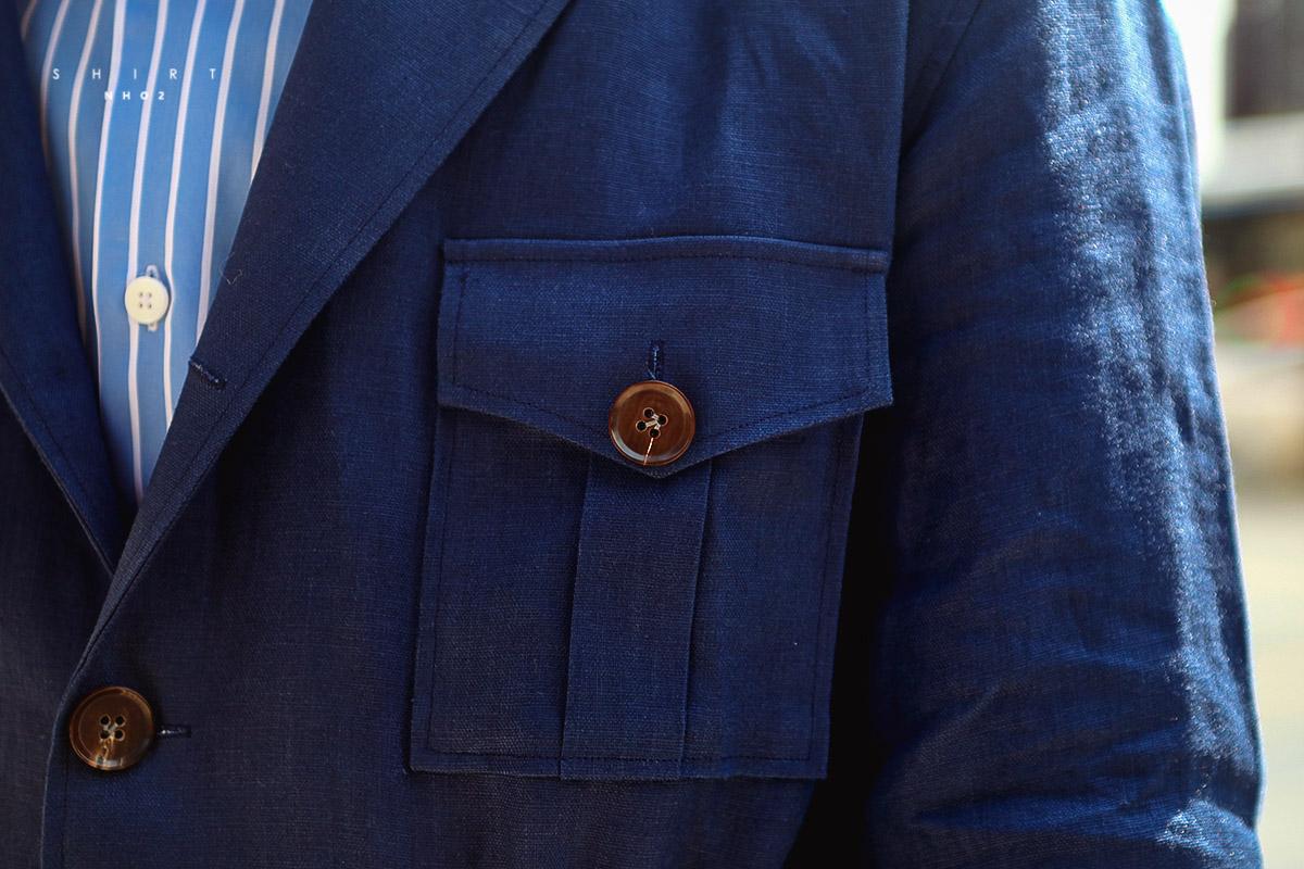 NHO2定制亚麻猎装夹克Safari Jacket